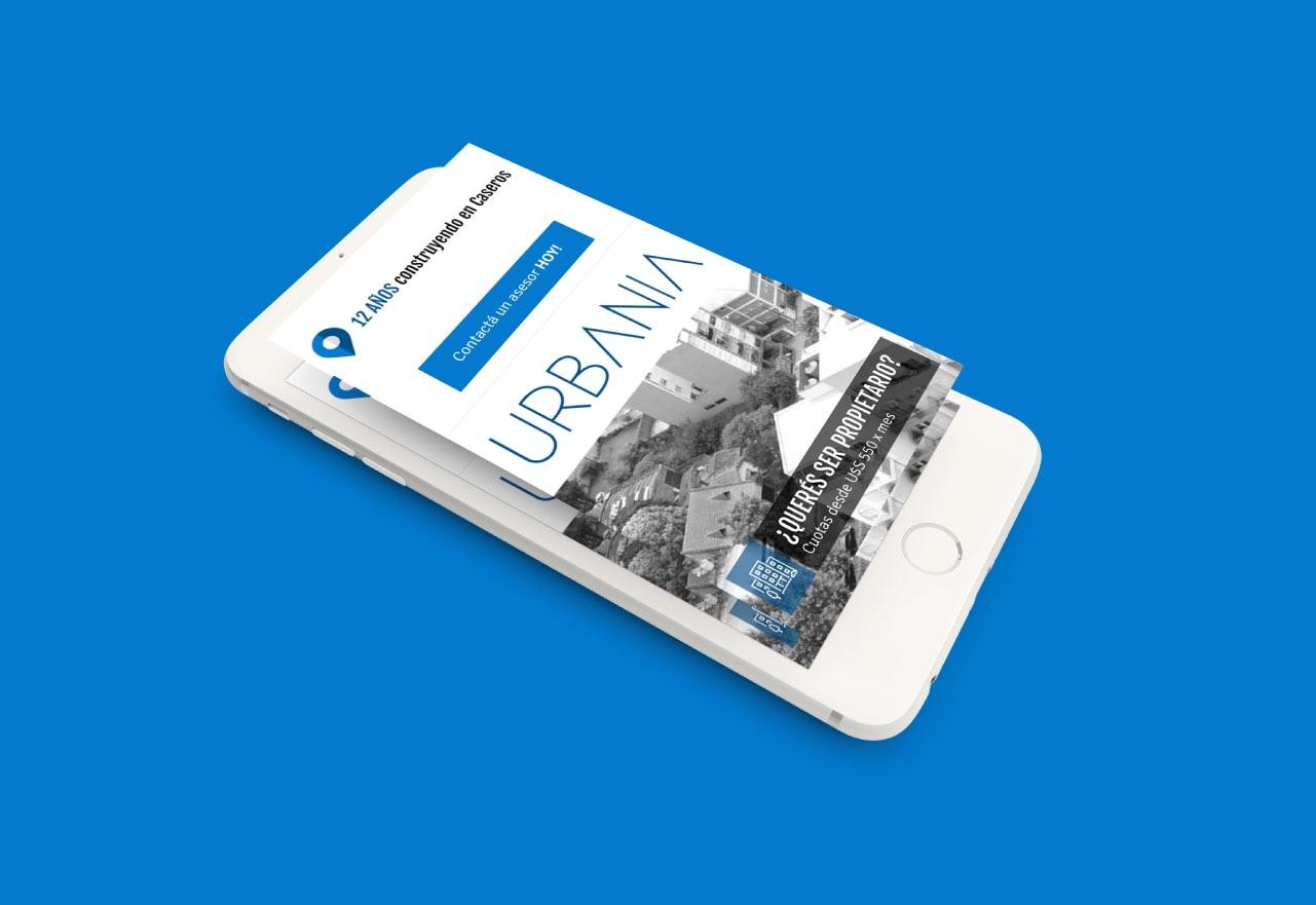 Marketing Digital Agencia Digital, Proyectos Urbania · Desarrollo de Landing Page, slider1