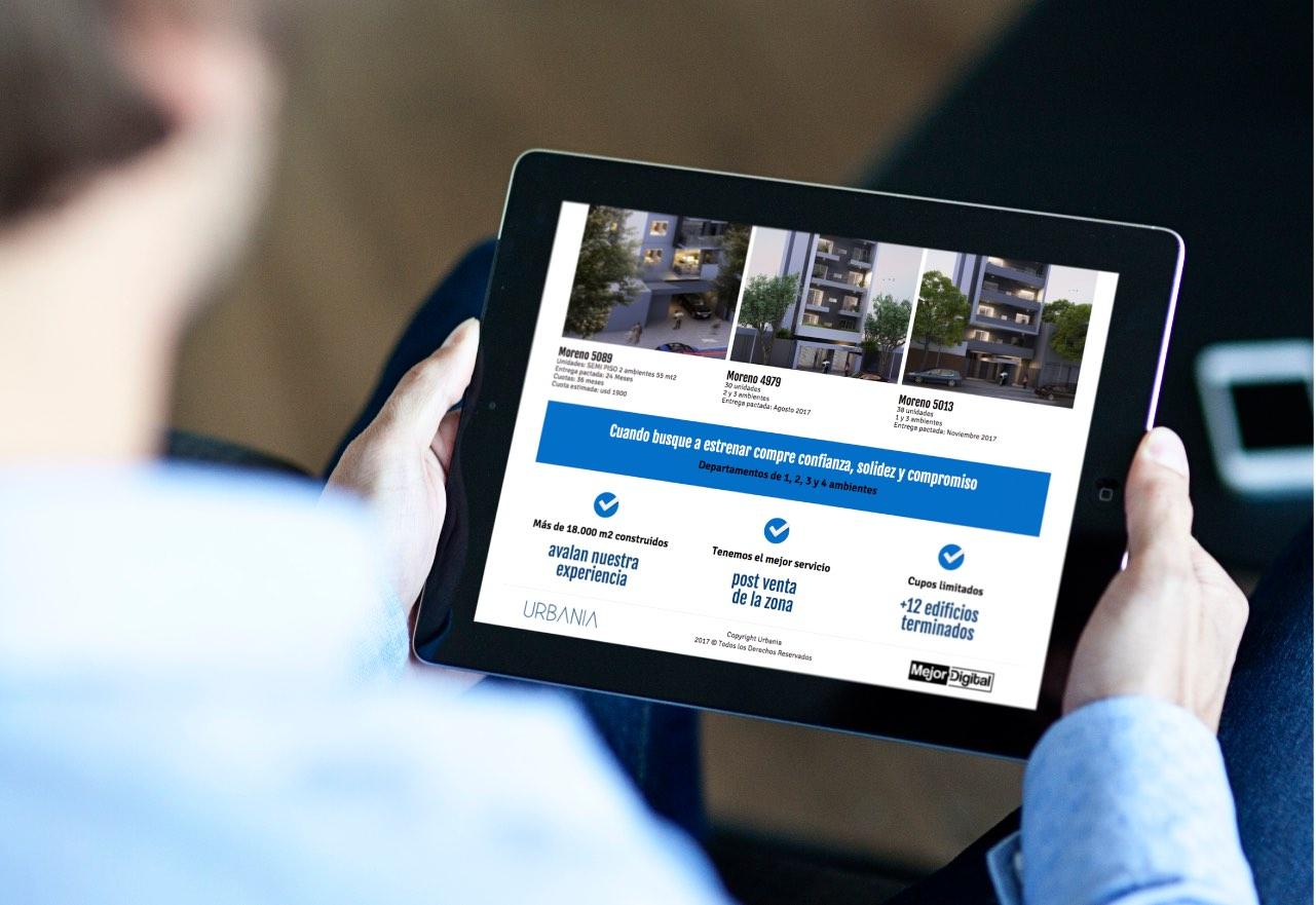 Marketing Digital Agencia Digital, Proyectos Urbania · Desarrollo de Landing Page, slider3