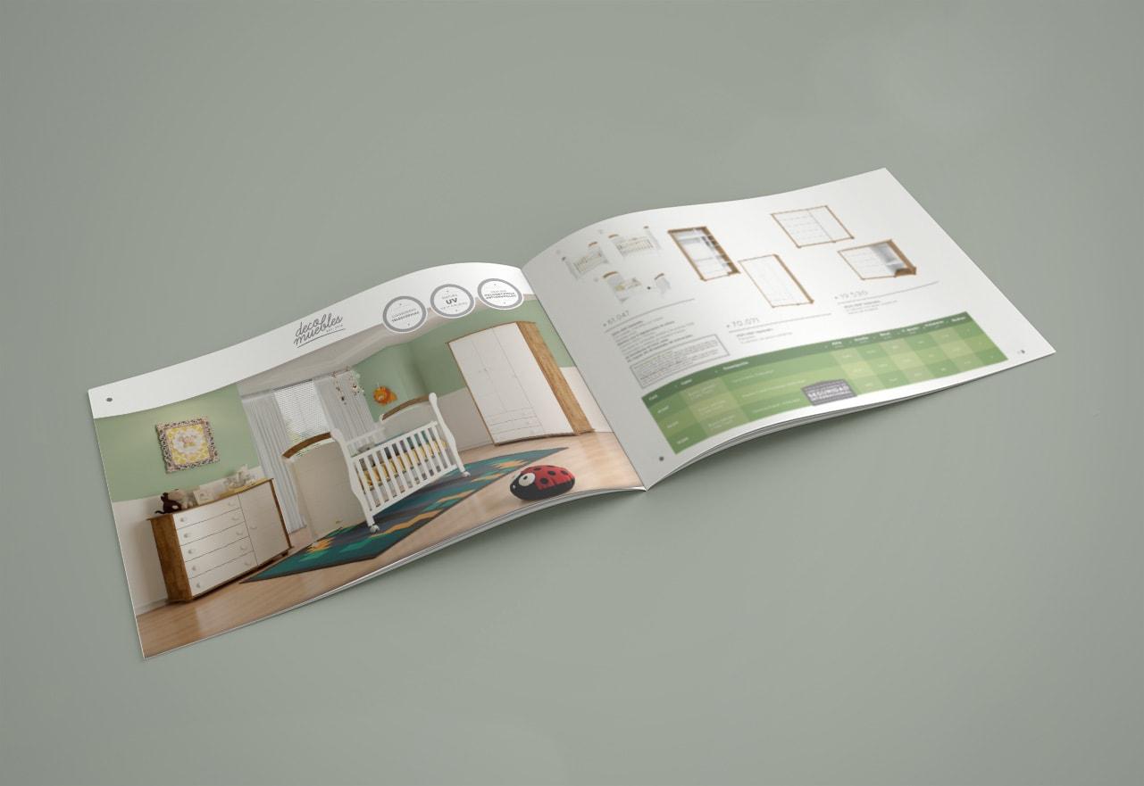 Marketing Digital Agencia Digital, DecoMuebles · Diseño de Catálogo de Productos, slide1-2