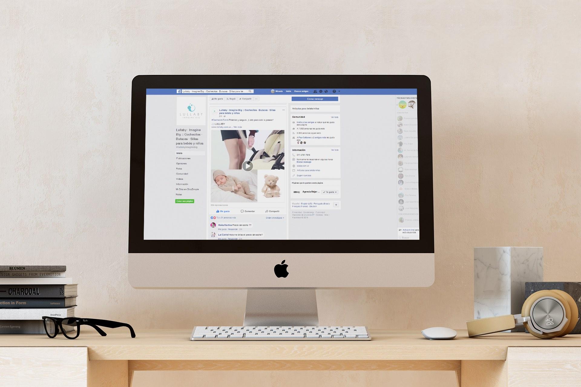 Agencia de Marketing Digital, Lullaby Imagine Big · Redes Sociales, 1
