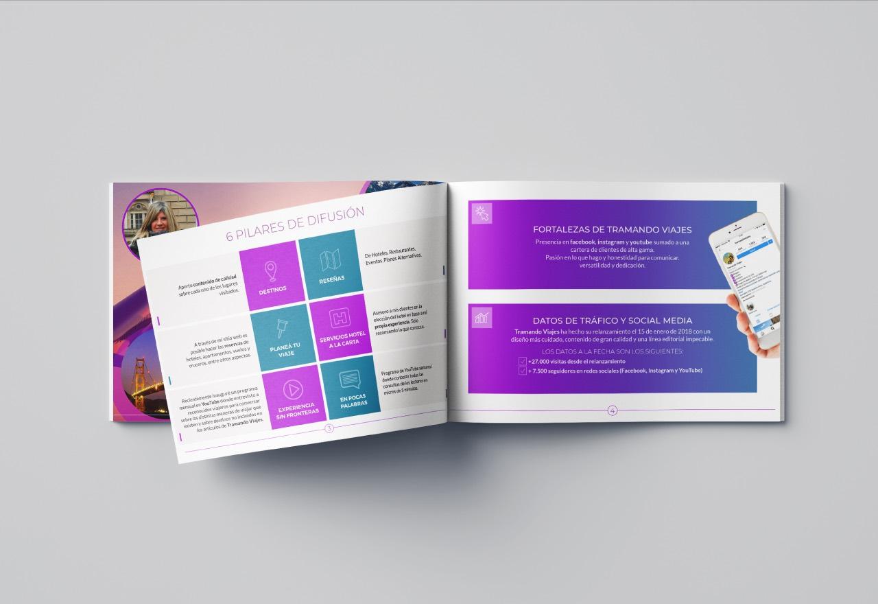 Marketing Digital Agencia Digital, Tramando Viajes · Brochure Institucional, tramando-viajes-brochure-1