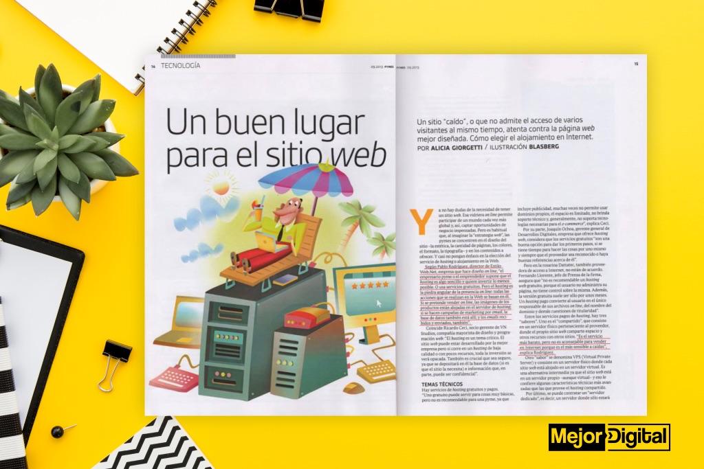 Marketing Digital Agencia Digital, Hosting para pymes: ¿Cómo elegirlo? >> Entrevista para Revista Clarín pymes, hosting-para-pymes-clarin-revista-2